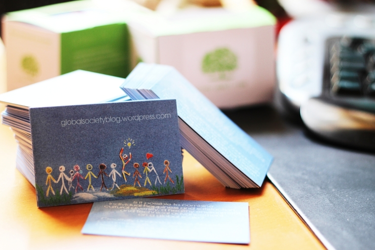 Photo of the Global Society Blog Visiting Cards
