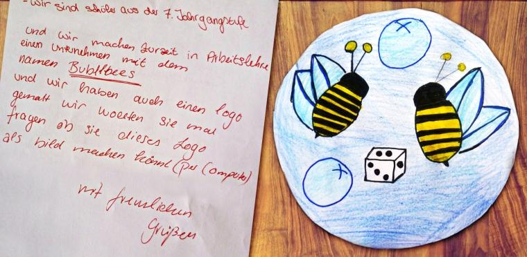 """Brief der Firma """"The BubbleBees"""""""